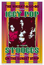 Punk: Iggy Pop at The Whisky A Go Go L.A. Concert Poster Circa 1973