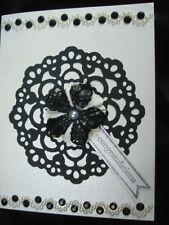 Handmade Wedding Card Black & White Using Quickutz Antique Doily