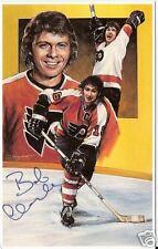 Bobby Clarke Autographed Hockey Legends Card HOFer
