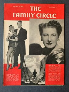 Family Circle Magazine January 30, 1942 1940's Lifestyle Cooking Recipes Ads