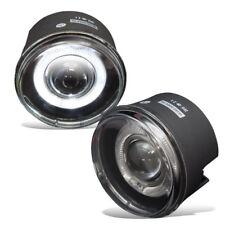 For Chrysler Dodge Jeep Mitsubishi Clear Lens Chrome Housing Halo Fog Light Lamp