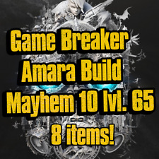 PS4/XBOX/PC - Game Breaker Amara Build Mayhem 10 lvl.65 - 8 Items
