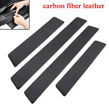 4PCS Universal Carbon Fiber Car Door Plate Sill Scuff Cover Anti Scratch Sticker