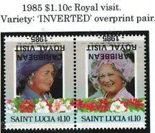 "ST LUCIA. .1985.ROYAL VISIT ""INVERTED"" Pair. UM/MINT. SG#849a."
