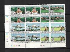 1983 Norfolk Island Planes set SG 304/7 muh in block 4
