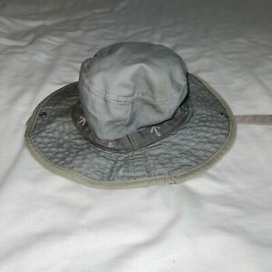 Carter's Grey Bucket Hat With Anchors Snap Brim Size 12-24 Months Beach Sun