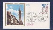 enveloppe 1er jour  Finistere  Saint Pol de Léon    1975