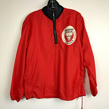 Chicago Bulls Vintage Windbreaker Pullover Jacket WGN Graphic Half Zip Medium