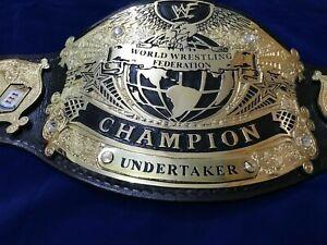NEW WWF UNDERTAKER UNDISPUTED CHAMPIONSHIP TITLE WWE WRESTLING ADULT SIZE BELT