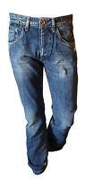 Jeans Pantalone Uomo Vissuto Casual Gamba Dritta JACK & JONES Denim Clark Tg  44