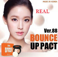 REAL VER 88 FACE CLAY POWDER MAKEUP WATERPROOF BOUNCE UP PACT FOUNDATION SPF 50
