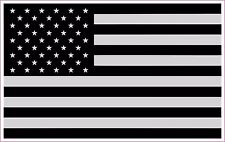 Police Military American Flag Black & White BLACK OUT Decal Sticker 5x3 SINGLE