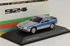Porsche 924 Turbo 1977 Blue Silver 1:43 Spark Museum