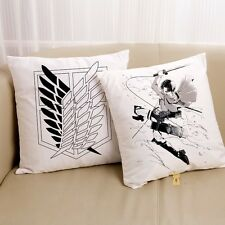 Attack on Titan Levi Wings of Liberty Cushion Hold Pillow Simple 45*45 cm