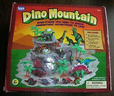 Toys To Grow On DINO MOUNTAIN 18 Dinosaurs 4 Trees 2 Nests & Mountain Complete