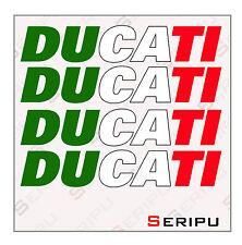 X4 DECAL DUCATI ITALIA INTERIOR LLANTA  VINILO RECORTE PEGATINA MOTO GP. ENDURO
