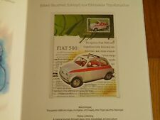 FIAT 500 GREEK STAMP 2006 - MAXIMUM CARD - LUXURY ALBUM