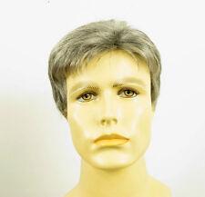 Perruque homme 100% cheveux naturel gris poivre et sel ref FRANCOIS 44