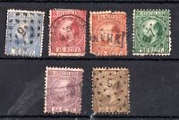 Netherlands 1867 William III used set (some faults) #7-12 Cat Val £300+ WS11889