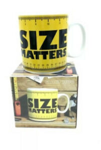 Size Matter  Awesome Jumbo Bigger Mug Fit Your Morning Coffee or Tea Gift