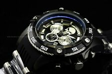 Invicta Mens 52mm Limited Edition Marvel Punisher Chronograph Black Strap Watch