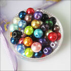4mm 6mm 8mm 10mm 12mm Mixed Glass Pearl Round Ball Loose Spacer Beads Charms