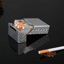 Silver Aluminium Mesh Cigarette Fag Tobacco Storage Box. Holds 20