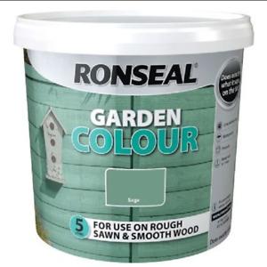 Ronseal Garden Colour Fence Life Exterior Wood Paint - Sage 5Ltr