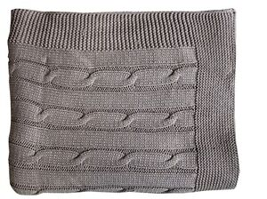 Super Soft Warm 100% Ring Spun Cotton Cable Knit Throw Blanket