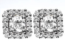 Mens Ladies 14k Yellow Gold Round Diamond Solitaire Jacket Studs Earrings 1.0 ct