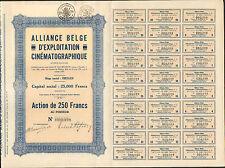 RARE => ALLIANCE BELGE d'EXPLOITATION CINÉMATOGRAPHIQUE (IXELLES BELGIQUE) (R)