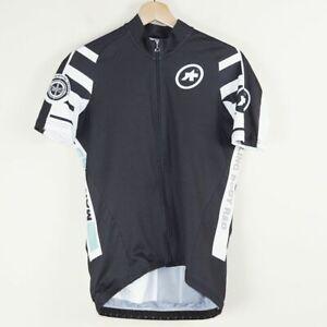 Assos Uno Black White Full Zip Cycling Jersey Mens Sz L