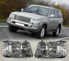 Headlights Head lamp for Toyota Land Cruiser 100 Set Left + Right Halogen 98-05