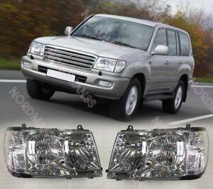Headlights Head lamp for Toyota LAND CRUISER 100 Set Left + Right Halogen 98-05