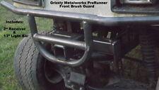 """GOLF CART YAMAHA G2 G9  PRERUNNER FRONT BRUSH GUARD W/2"""" RECEIVER & LIGHT BAR"""