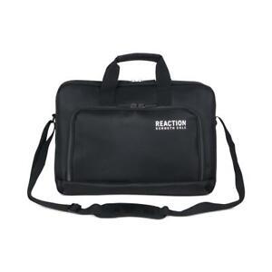 Kenneth Cole Reaction Mens Case Works Black Zip Top Laptop Bag O/S BHFO 0144