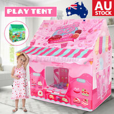 Kids Play Tent Playhouse Sweet House Dinasour Mosquito Net Indoor Outdoor Up AU