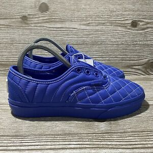 Vans Mens Authentic Opening Ceremony Blue Quilted Skate Shoes Size 7.5 NEW NWOB