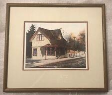 Framed Signed Limited Ed. Print by Joanna Krasnansky CHURCHVILLE STATION 103/250