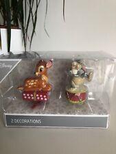 SALE ❤️ Primark Disney 2 X Christmas Bauble Hanging Decoration Thumper & Bambi