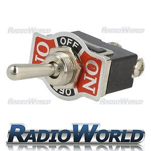 Heavy Duty Toggle Flick Switch 12V ON/OFF/ON Car Dash Light Metal 12 Volt SPDT