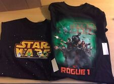 Two New Star Wars Black Youth Size 14/16 Graphic T-Shirts (With Tags)