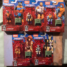 MEGA CONSTRUX MASTERS OF THE UNIVERSE HEROES WAVE 4 FISTO STINKOR, FAKER, ETC..