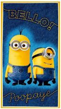 Millions Of Minions Bello! Poopaye Denim Print 100% cotton fabric by the panel