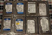 Lot of (8) SATA Desktop 3.5 Hard Drives - 160GB 320GB 500GB - Tested + Working