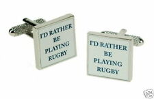 Id Rather be Playing Rugby Novelty Gift Cufflinks