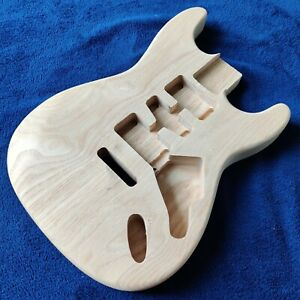 New Ash 44mm Depth Strat Stratocaster Style Guitar Body Natural Unfinished