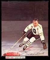 1966-67 Gordie Howe General Mills Action Photo All Star Cereal back box redwings