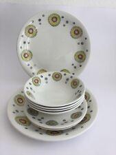 Retro Broadhurst Ironstone Kathie Winkle 'Solar' Bowls, Plates - Job Lot
