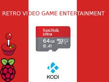 64GB RETRO VIDEO GAME MICRO SD CLASS 10 SDXC COMPATIBLE RETROPIE & KODI